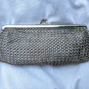 Whiting & Davis Mini Ring Mesh Clutch Evening Bag